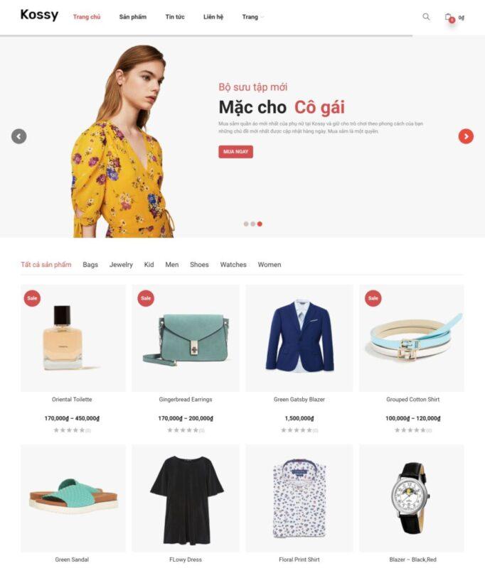 Mẫu Website Bán Hàng Thời Trang (BH10) hút khách